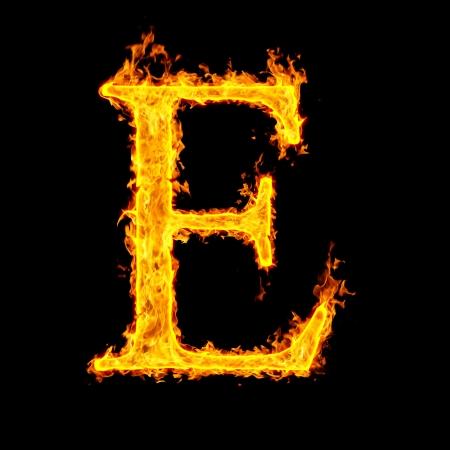 e ,fire letter Stock Photo - 7952058