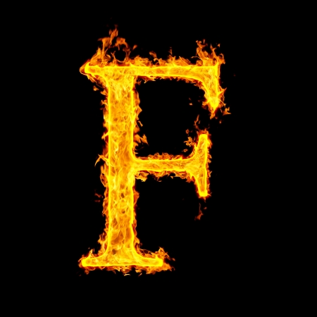 f ,fire letter Stock Photo - 7952030