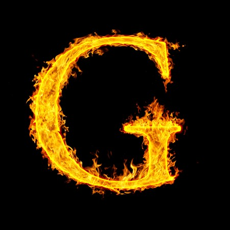 g ,fire letter Stock Photo - 7952068
