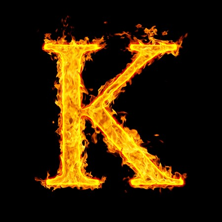 k ,fire letter Stock Photo - 7952069