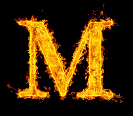 hell fire: m ,fire letter Stock Photo