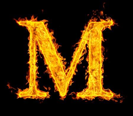 m ,fire letter photo