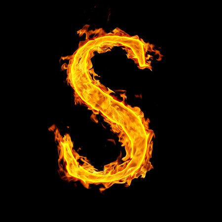 s ,fire letter Stock Photo - 7952020
