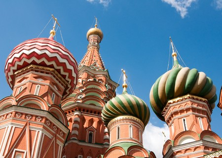 St. Basil's Cathedral in Moscow on red square Stock Photo - 7952158