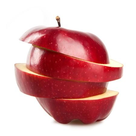 Red Apple isoliert auf weiss Standard-Bild - 8178908