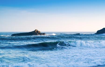 beautiful view, blue ocean, seascape photo