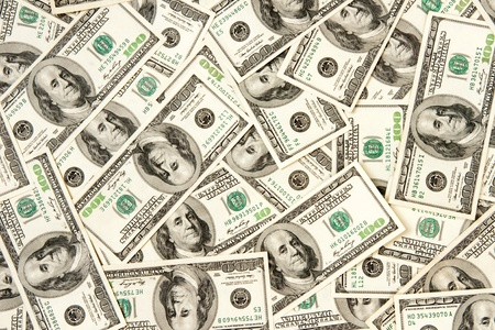 heap of dollars, money background Stock Photo - 8341054