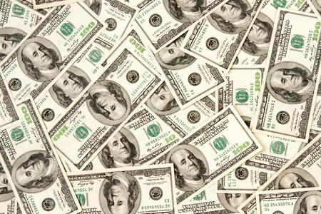gotówka: sterty dolarów, tÅ'a pieniÄ™dzy