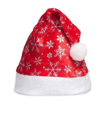 cap of Santa isolated on white photo