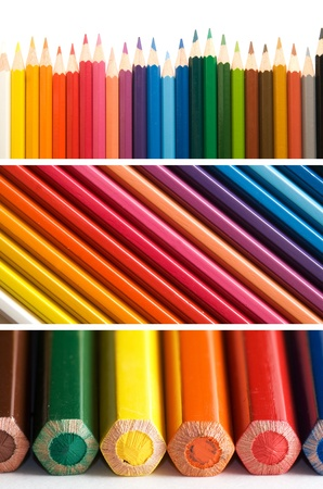 color pencils, collage Stock Photo - 8933853
