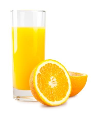 orange slice: orange and juice