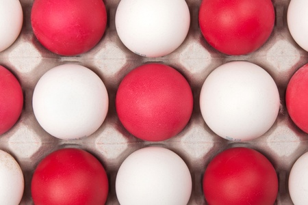 white and red eggs, background photo