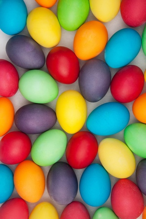 boiled eggs: multi color eggs