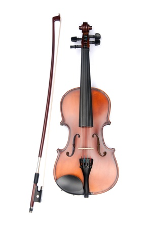 violins: violin isolated on white Stock Photo
