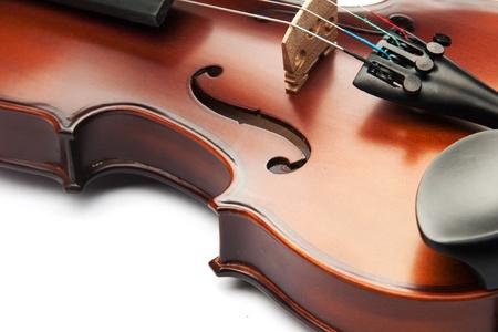 violin isolated on white Stok Fotoğraf