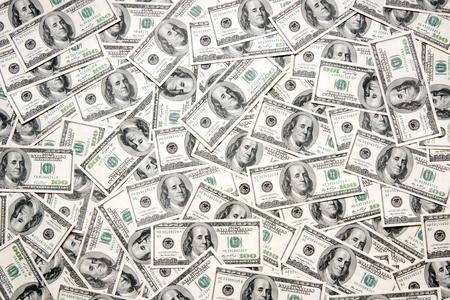 Dollar-Hintergrund Standard-Bild - 9264894