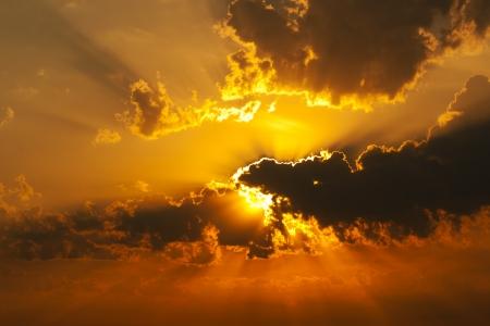 puesta de sol: Sunset Foto de archivo