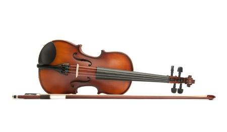 violines: viol�n aislado en blanco Foto de archivo
