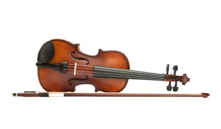 fiddles: violin isolated on white Stock Photo