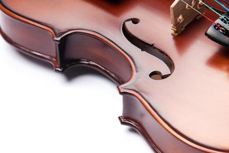 bout: viol�n aislado en blanco Foto de archivo
