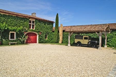 bordeaux region: retro car