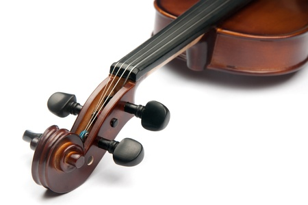 Violine isoliert auf weiß Standard-Bild - 10474523
