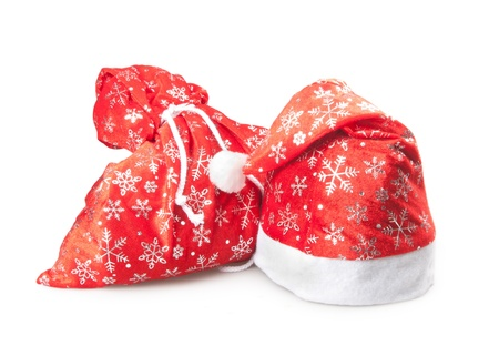 bag and cap of Santa