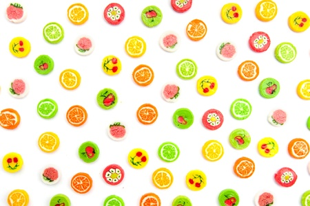 many differnt tasty candies on white Stock Photo - 11097261