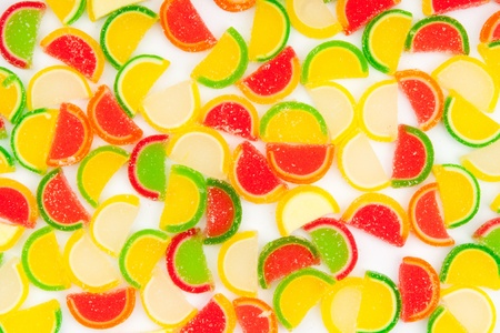 fruit jellies, oranges, lemons, limes photo