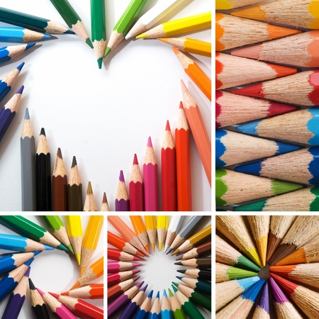color pencils, collage Stock Photo - 12310017