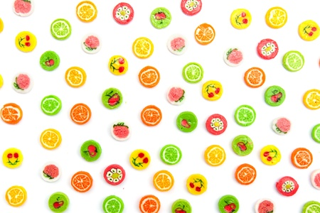 many differnt tasty candies on white Stock Photo - 12310128