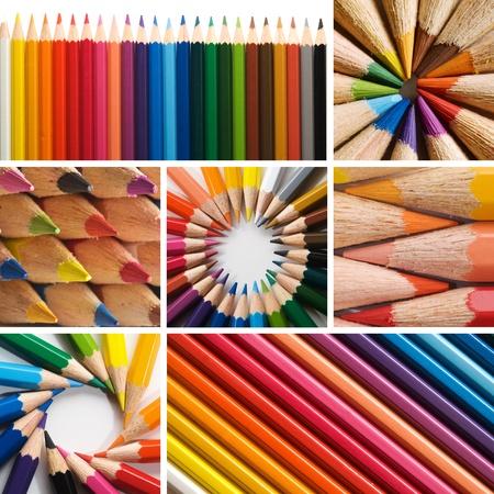 color pencils, collage Stock Photo - 12310167