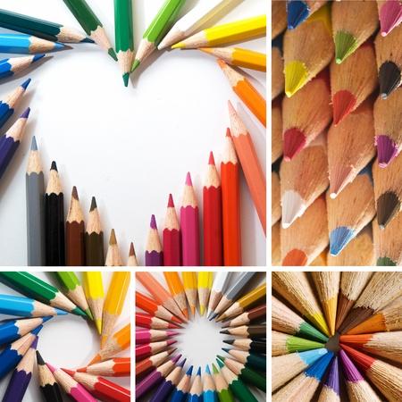 colored pencil: color pencils, collage