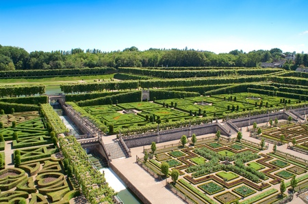 Ornamental Bushes In French Garden On Sunny Summer Day, Kromeriz ...