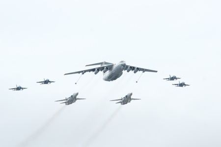 Il-78 is a four-engined aerial refueling tanker, 