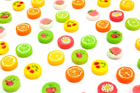 many differnt tasty candies on white Stock Photo - 14744500
