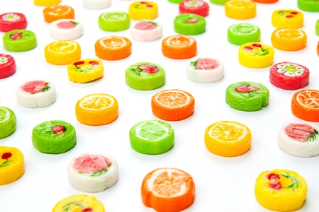 many differnt tasty candies on white Stock Photo - 15068791