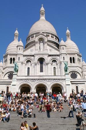 Sacre Coeur, Montmartre, Paris, France Stock Photo - 15055787