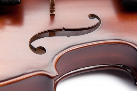 fingerboard: violin isolated on white Stock Photo