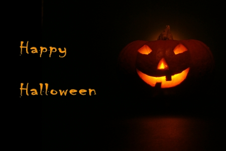 lantern, illuminating pumpkin in dark night Stock Photo - 15781399