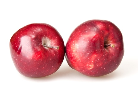red apples isolated on white Stock Photo - 17410995