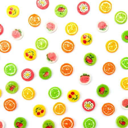 many differnt tasty candies on white Stock Photo - 18238734