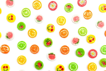 many differnt tasty candies on white Stock Photo - 18701912