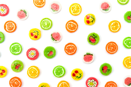 many differnt tasty candies on white Stock Photo - 23144549