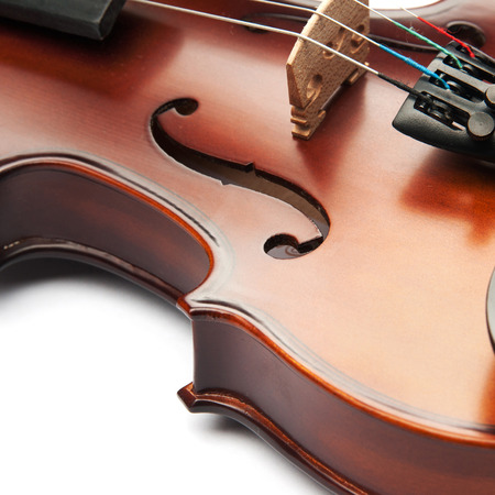 f 18: violin isolated on white Stock Photo