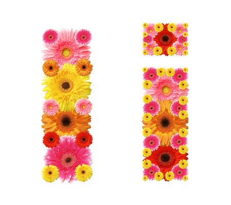 i, flower alphabet Stock Photo