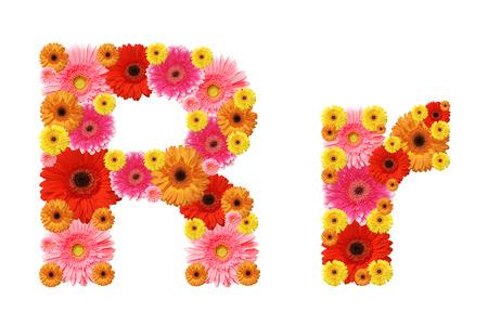 r: r, flower alphabet