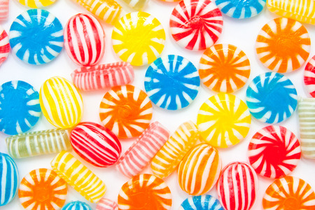 sugarplum: many different color candies, background Stock Photo