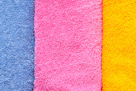 convolute: color convolute towels Stock Photo