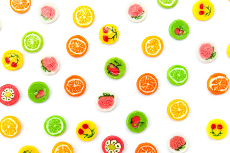sugarplum: many differnt tasty candies on white